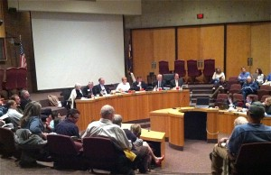 Littleton City Council held their first city council meeting to vote for rezoning near County Line and Erickson Avenue in Littleton on Tuesday. (Photo by: Stephanie V. Coleman)
