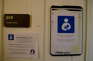 "The ""Breastfeeding Café"" takes places on first Mondays in the lactation space at the Institute for Women's Studies, located in the 9th Street Park.  [Photo by Melanie J. Rice]"