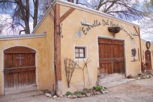 """A few miles north of Santa Fe lies Estrella Del Norte Vineyard, a quaint winery with a rich taste.  Richard and Eileen Reinders opened Estrella Del Norte in 2007 and have enjoyed the """"fruits of their labor"""" ever since. [Photo by Ashley Hattle.]"""