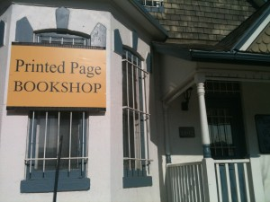 The lovely old-fashioned home of The Printed Page (photo by S.L. Alderton)