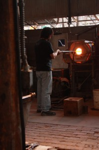 Tesuque Glass Blowing; allows artists like Dave Schanfeld to persue their passion and create works of art through glass blowing. Photo by: Jen Sasser