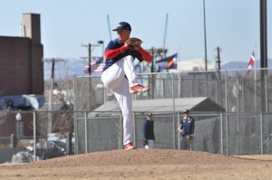 Forrest Carpenter Pitching for Metro State in the Spring of 2013 Photo Courtesy of Metro State Athletics