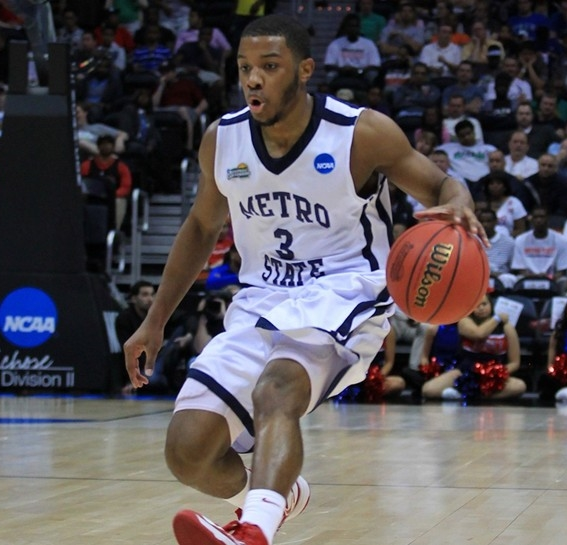 """THIS YEAR WILL BE DIFFERENT - Roadrunners Guard Brandon """"BJ"""" Jefferson was named Rocky Mountain Athletic Conference preseason player of the year [Photo Courtesy of Metro State Athletics]"""