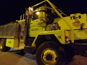 One of the trucks in the Evergreen Fire Rescue fleet.