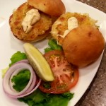 The highly acclaimed crabcake sliders were a hot item on Monday's grand opening.