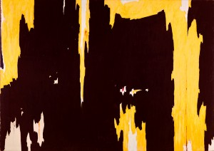 Clyfford Still, 1957-D No. 1, 1957. Oil on canvas; support: 113 x 159 in. Collection Albright-Knox Art Gallery, Buffalo, NY. Gift of Seymour H. Knox, Jr., 1959. © 2014 City and County of Denver and The Clyfford Still Museum, Denver, CO. Photograph by Tom Loonan.