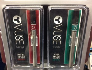 Vuse, a brand of e-cigarette, on sale at a gas station.