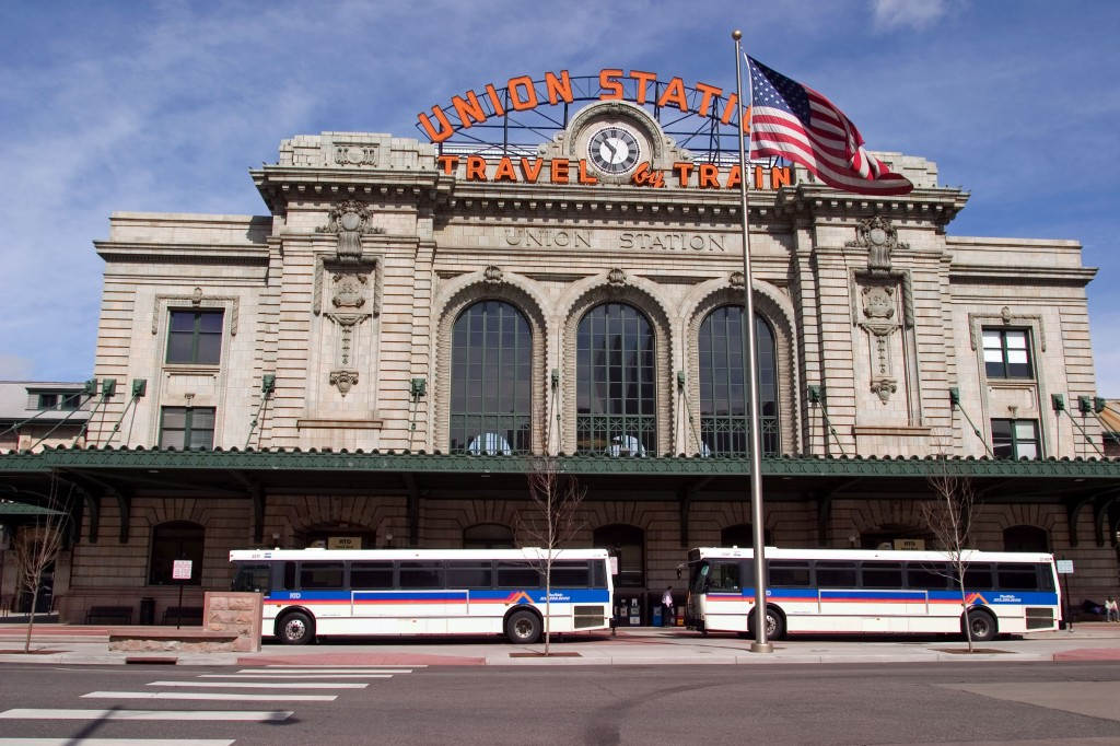 The historical Union Station building in Denver Colorado (Photo provided by RTD of Denver)