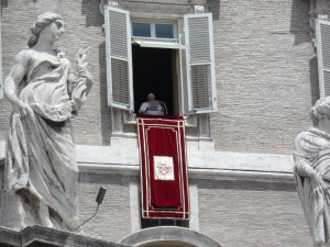 Pope Benedict XVI gives a speech in the Vatican in 2012 [photo by Teresa Szabo]